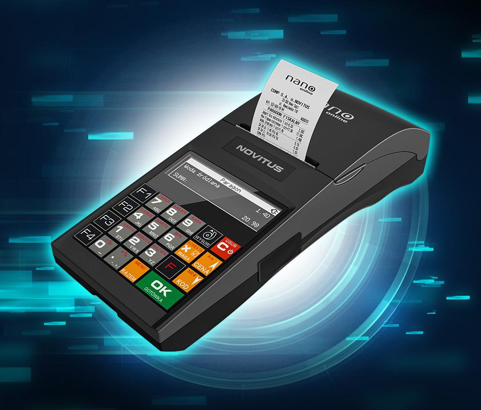 Funkcje kasy fiskalnej Novitus Nano Online